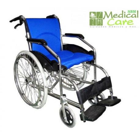 Silla de ruedas con respado plegable MARCA ABM MEDICAL CARE
