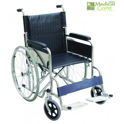 Silla de ruedas cromada MARCA ABM MEDICAL CARE