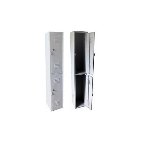 Locker de 2 cuerpos, p/candado MARCA CONTINENTAL