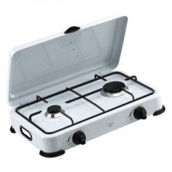 Estufa de mesa de 2 hornillas con tapa MARCA PREMIUM