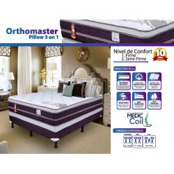 Cama Queen Size Orthomaster Pillow 3 en 1 MARCA FACENCO