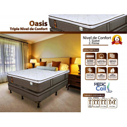 Cama King Size Oasis Triple Confort MARCA FACENCO