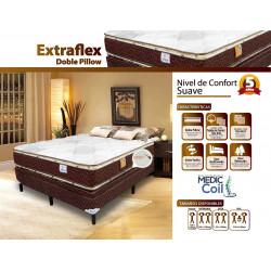 Cama Matrimonial ExtraFlex Doble Pillow MARCA FACENCO