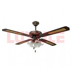 Ventilador de techo de 52 plg 4 lamparas MARCA LUXLITE