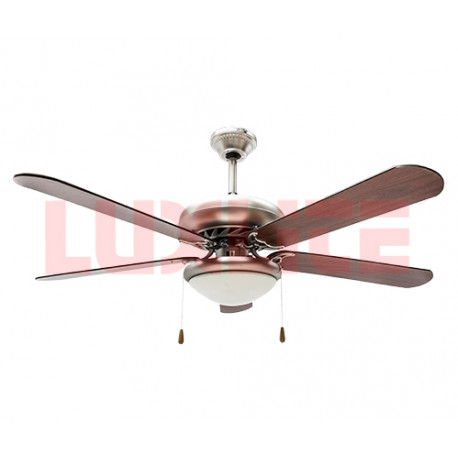 Ventilador de techo de 42 plg 1 lampara 5 aspas en la increible abm - Lampara de techo con ventilador ...