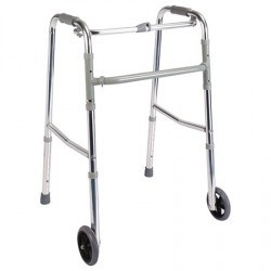 Andador plegable ajustable con ruedas frontales MARCA ABM MEDICAL CARE