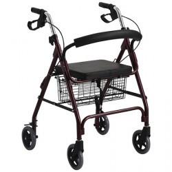 Andador con 4 ruedas y canasta MARCA ABM MEDICAL CARE