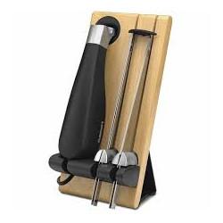 Cuchillo Eléctrico y base de madera MARCA CUISINART
