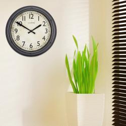 Reloj de pared de 30 cm Gris Pulido MARCA LA CROSE