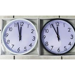 Reloj Negro o BLANCO de pared Redondo de 25 Centímetros.