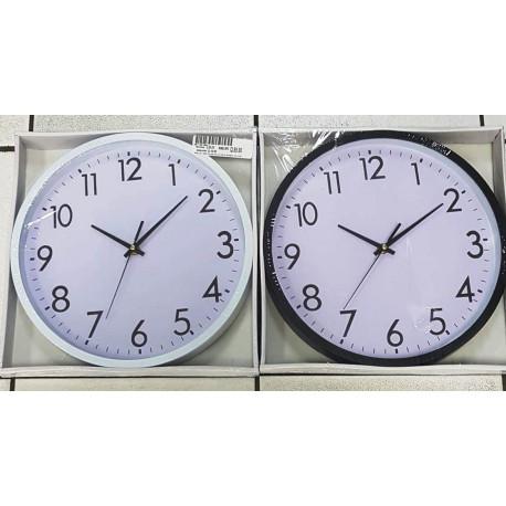 Reloj Negro o BLANCO de pared Redondo de 30 Centímetros.