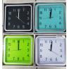 Reloj de pared Cuadrado colores varios.