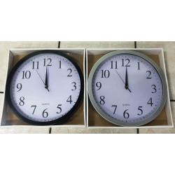Reloj GRIS o NEGRO de pared Redondo de 30 Centímetros.