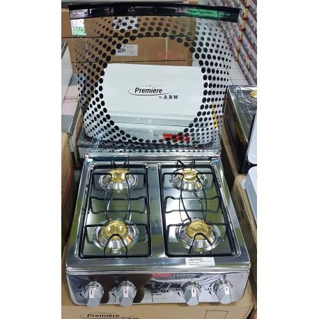 Estufa de Acero inoxidable de mesa de 4 hornillas MARCA PREMIERE BY ABM