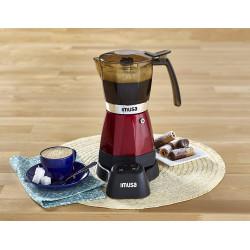 Cafetera Electrica Roja para expreso de 6 tazas MARCA IMUSA