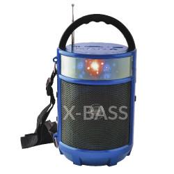 Radio linterna recargable Azul MARCA SUPERSONIC