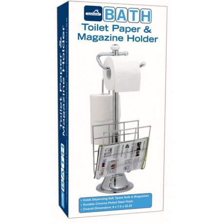 Rack para papel higienico capacidad de 3 rollos y por revistas MARCA EUROHOME