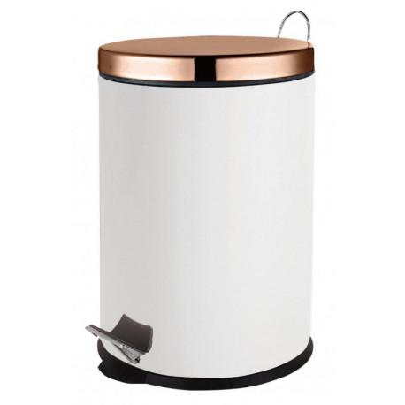 Basurero de acero inoxidable Blanco de capacidad 20 litros MARCA EUROHOME
