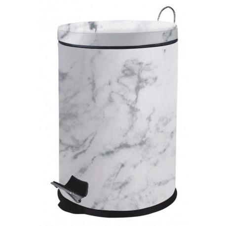 Basurero de acero inoxidable deseño marmol de capacidad 20 litros MARCA EUROHOME