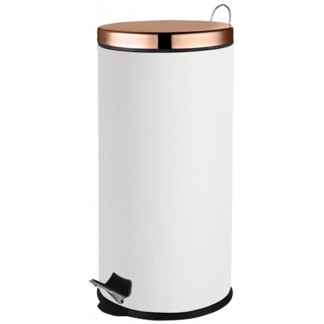 Basurero de acero inoxidable Blanco de capacidad 27 litros MARCA EUROHOME