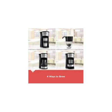 Cafetera 4 en 1 de 5 tazas Blanca MARCA BLACK & DECKER