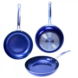 """Sarten de 11""""con revestimiento de cerámica Azul MARCA EUROHOME"""