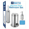 Set de 3 accesorios para baño de Acero inoxidable MARCA EUROHOME