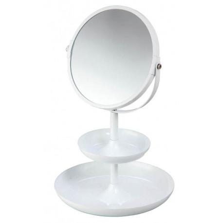 Espejo redondo para maquillaje Blanco MARCA ELLE
