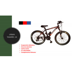 Bicicleta de Llanta ancha para adulto N.24 de 21 velocidades MARCA URBAN