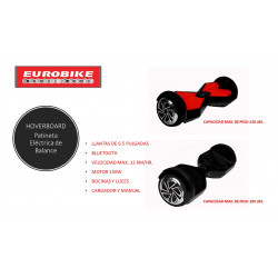 Patineta de Balance con Bluetooth MARCA EUROBIKE