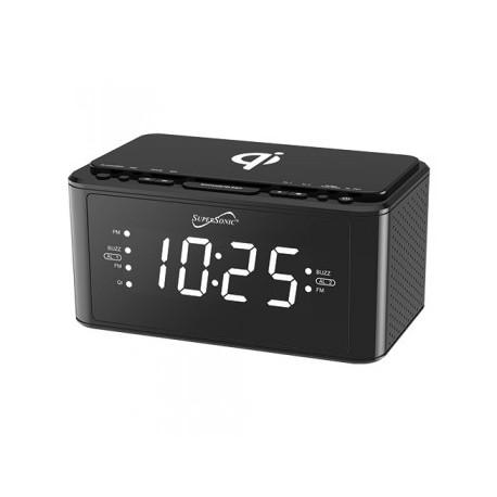 Radio reloj con estación de carga inalámbrica Qi MARCA SUPERSONIC