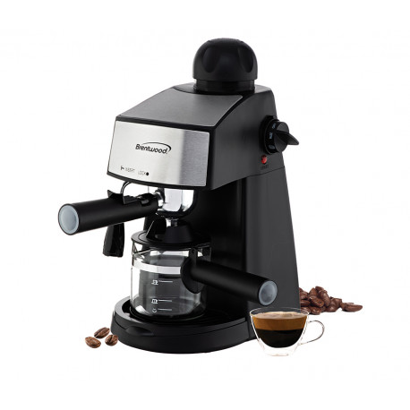 Cafetera para café espresso y capuchino, negra MARCA BRENTWOOD