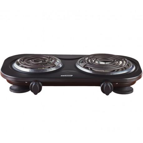 Estufa eléctrica de mesa de 2 hornillas MARCA BRENTWOOD