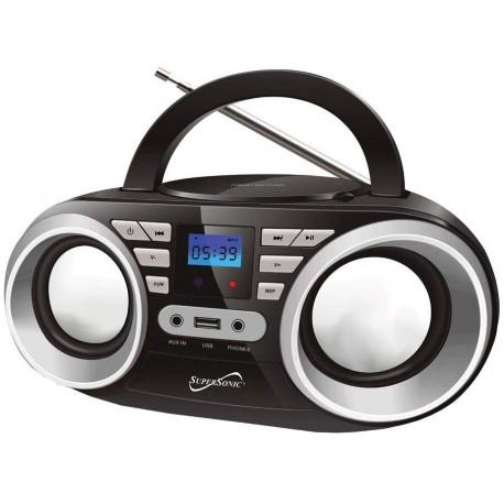 Radio FM, MP3, USB y CD MARCA SUPERSONIC