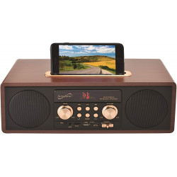 Bocina Vintage Retro Radio, Usb, Bluetooth, Aux MARCA SUPERSONIC