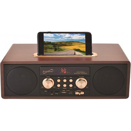 Bocina Vintage Retro Radio, Usb, Bluetooth, Aux MARCA SUPERSONIC