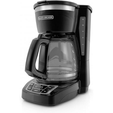 Cafetera de 12 tazas negro MARCA BLACK DECKER