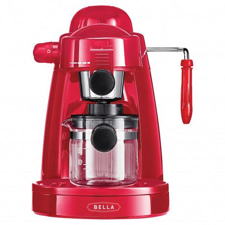 Cafetera para expreso y capuchino color rojo MARCA BELLA
