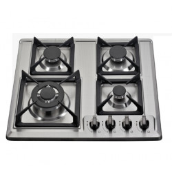 Estufa de 4 hornillas empotrable top de acero a gas MARCA PREMIERE BY ABM