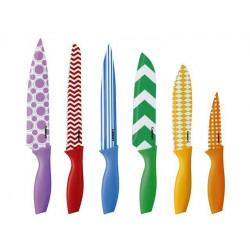 Juego de 6 cuchillos multicolores MARCA CUISINART
