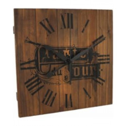 Reloj de pared acabado en madera