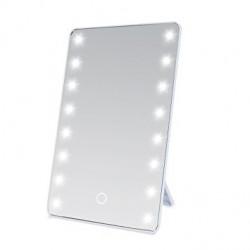 Espejo cosmetico con luz LED de mesa
