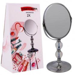 Espejo cosmético con soporte movible