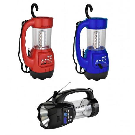 Radio linterna de luz Led de bateria recargable MARCA QFX